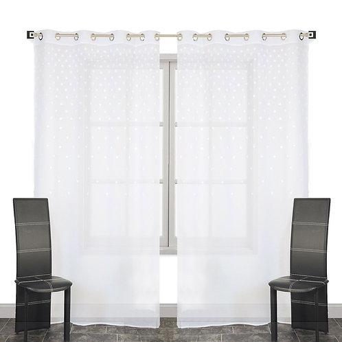 Breeze Polka Dots Sheer Single Curtain Panel