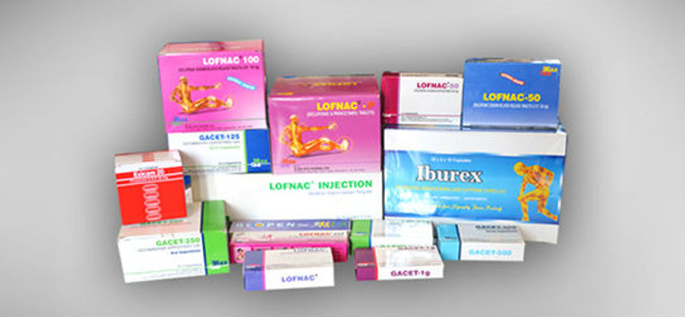 LOFNAC, Declofinac gel, Iburex and Declofinac Injection