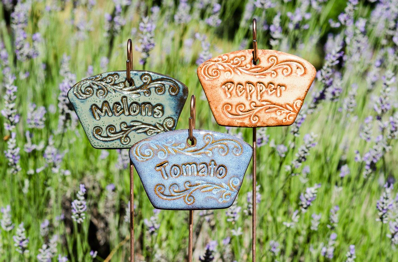 Solorio Pottery Plant Marker