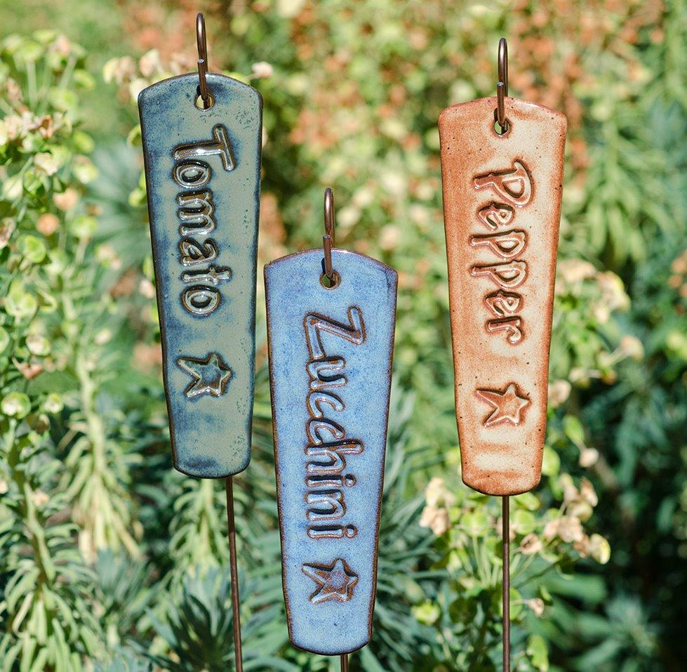 Solorio Pottery Rustic Plant Marker