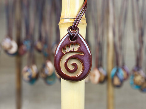 Swirl Pendant with Gift Box and Gift Tag
