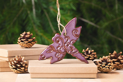 Dragonfly Ornament with Gift Box and Gift Tag