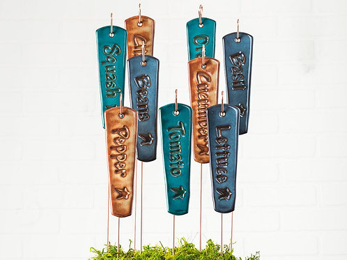 Garden Marker 12 Pack With Metal Stands