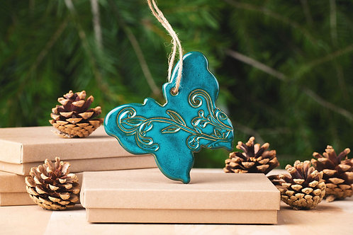 Butterfly Ornament with Gift Box and Gift Tag