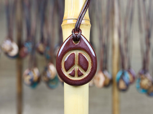 Peace Sign Pendant with Gift Box and Gift Tag