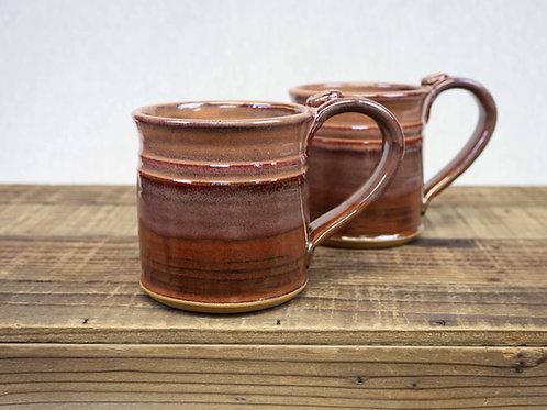 Wheel Thrown Stoneware Pottery Mug, Smokey Plum