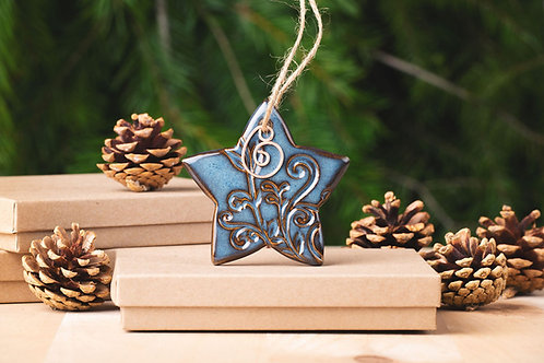 Star Ornament with Gift Box and Gift Tag