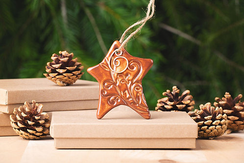 Wonky Star Ornament with Gift Box and Gift Tag
