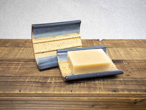 Stoneware Soap Dish, Denim Blue