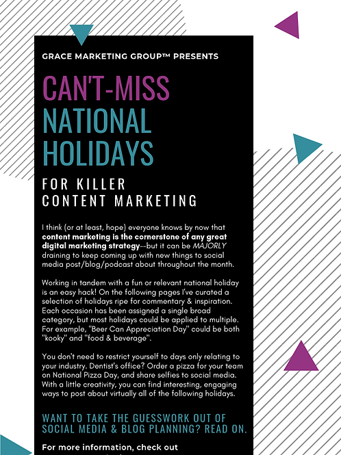 Can't Miss National Holidays for Killer Content Marketing