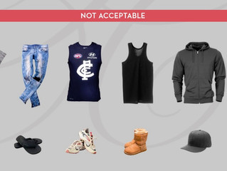 2019 AFL Medallion Club Dress Code