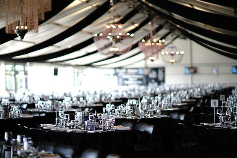 Home Straight Enclosure Marquee, Flemington Racecourse. Melbourne Cup Carnival.