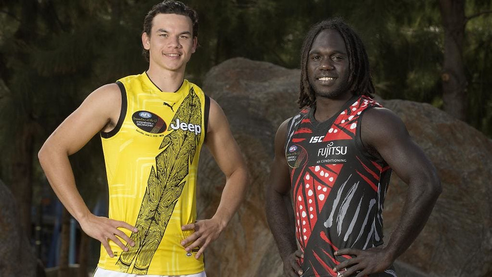 Dreamtime at the 'G Indigenous Themed Guernsey. Picture: Michael Klein