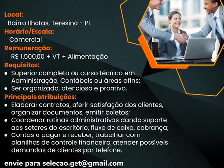 Vaga: Auxiliar Administrativo Financeiro