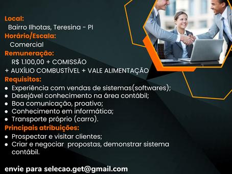 Vaga: Consultor Comercial de Sistema