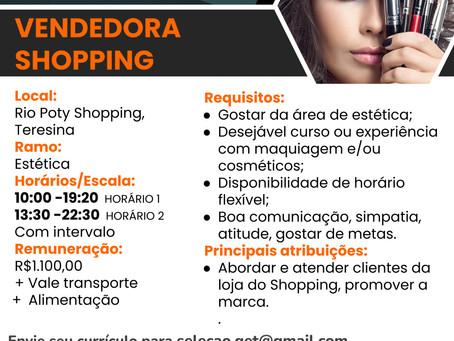 VAGA: Vendedora Shopping