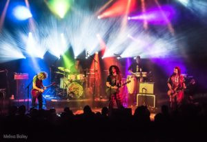 The band rocking out Boulder Theatre on Oct. 6th, 2017.