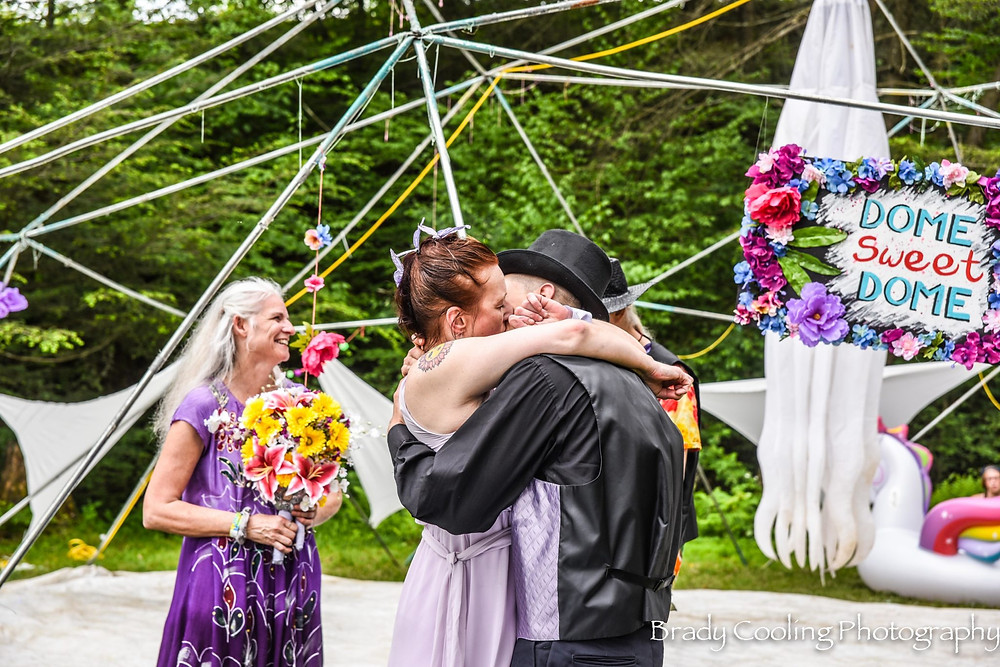 Wedding couple at Domefest