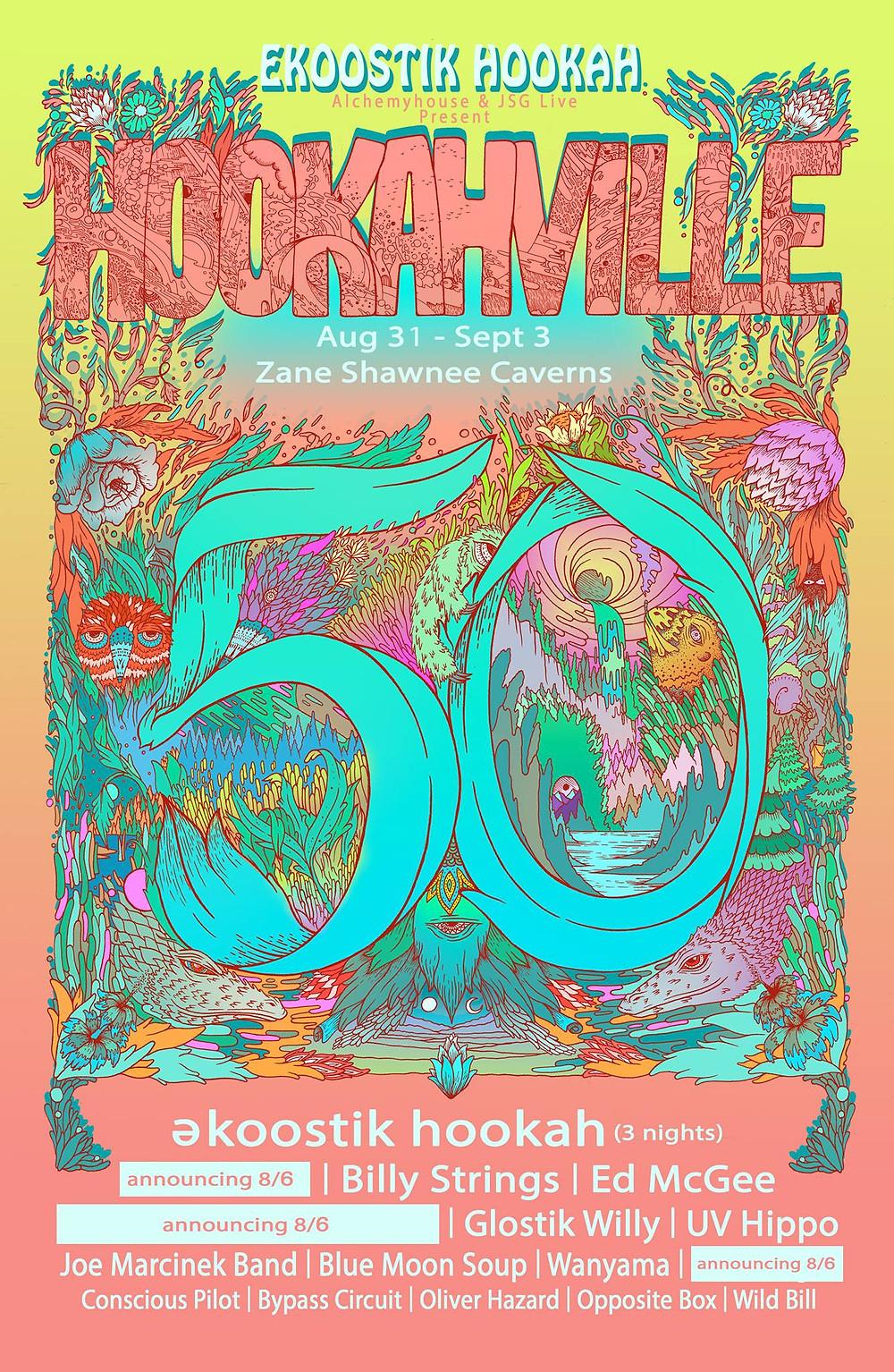 Hookahville 50 show poster