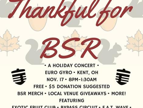 Thankful4BSR Fundraising Concert