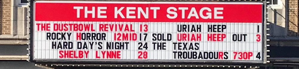 The Kent Stage sold-out sign