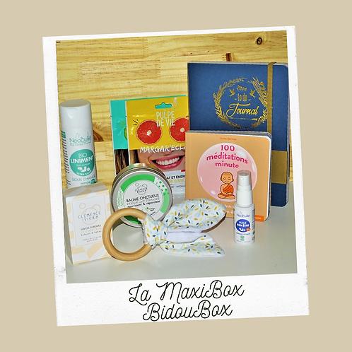 MAXIBOX 8 PRODUITS: 1 box unique pour toute la grossesse et la naissance!