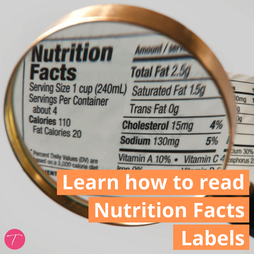 Learn how to read nutrition facts labels