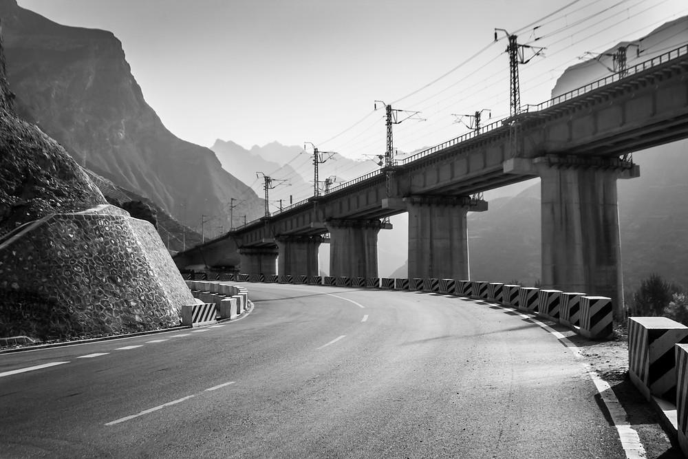 Highway of Gansu, China