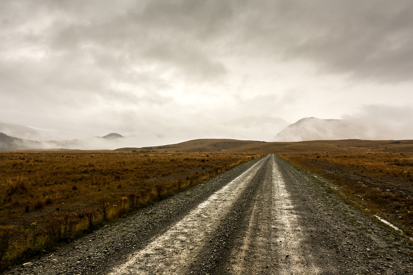 Bad weather cycle touring new zealand