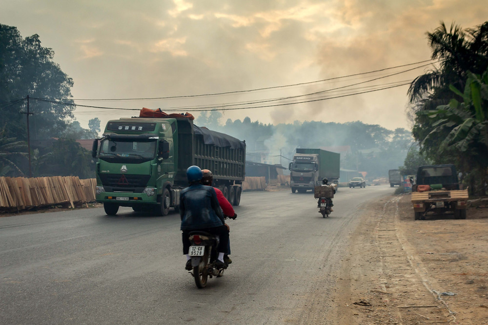 Polluted scenes in Vietnam
