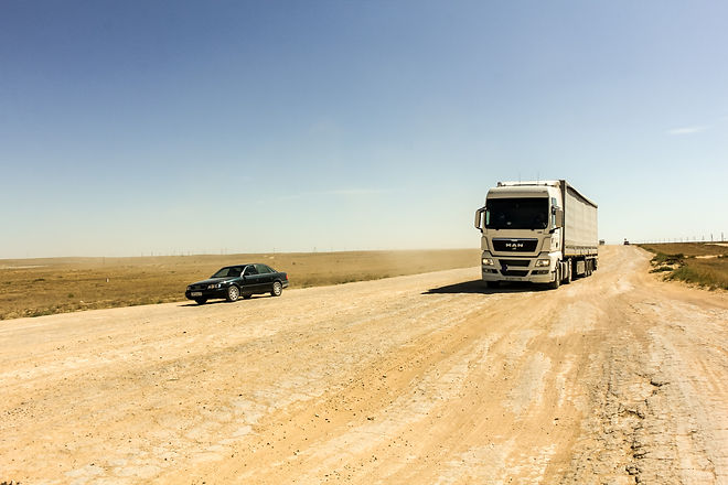 Dirt road central asia