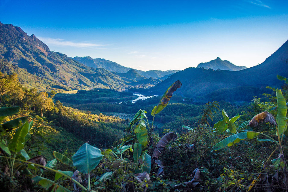 View of the mountains, Laos