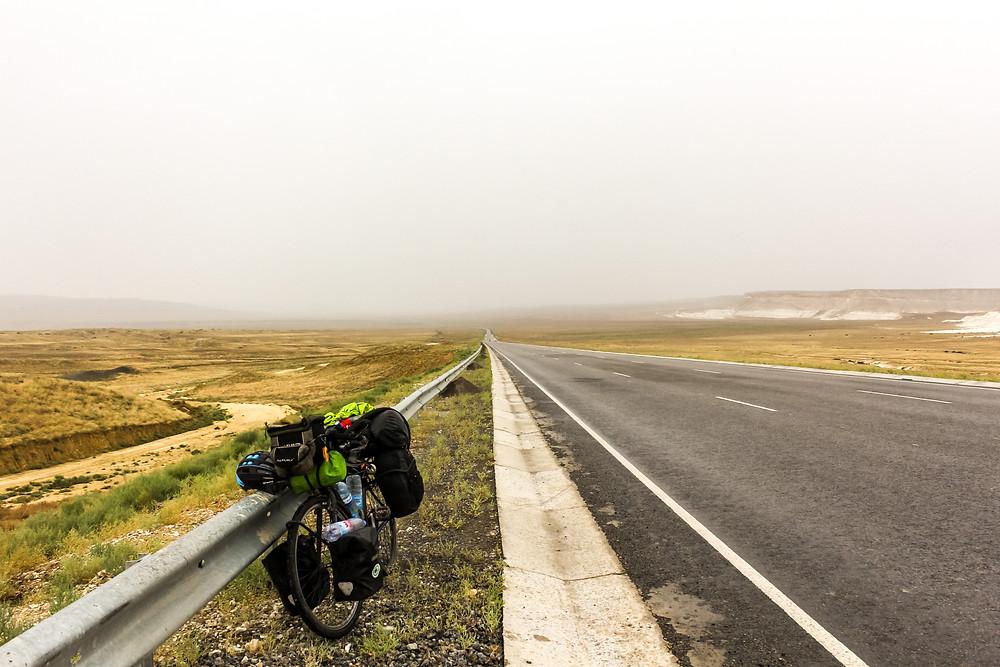 Cycle touring through Kazakhstan