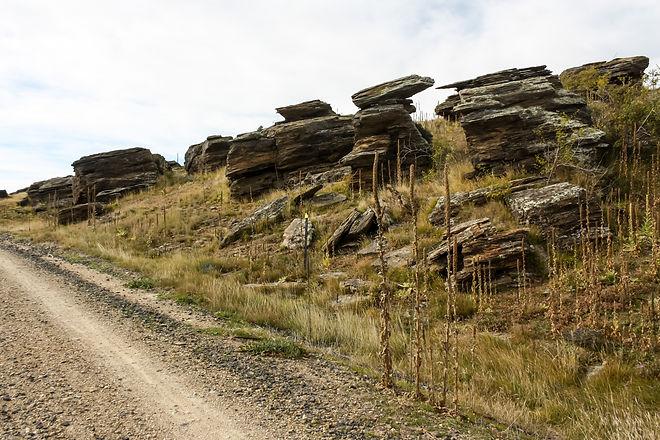 Rock formations otago