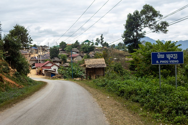 Small village northern laos