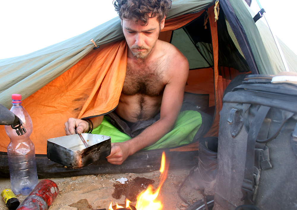 Camping in Central Asia