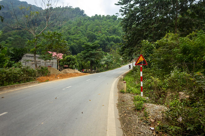 On the road in vietnam