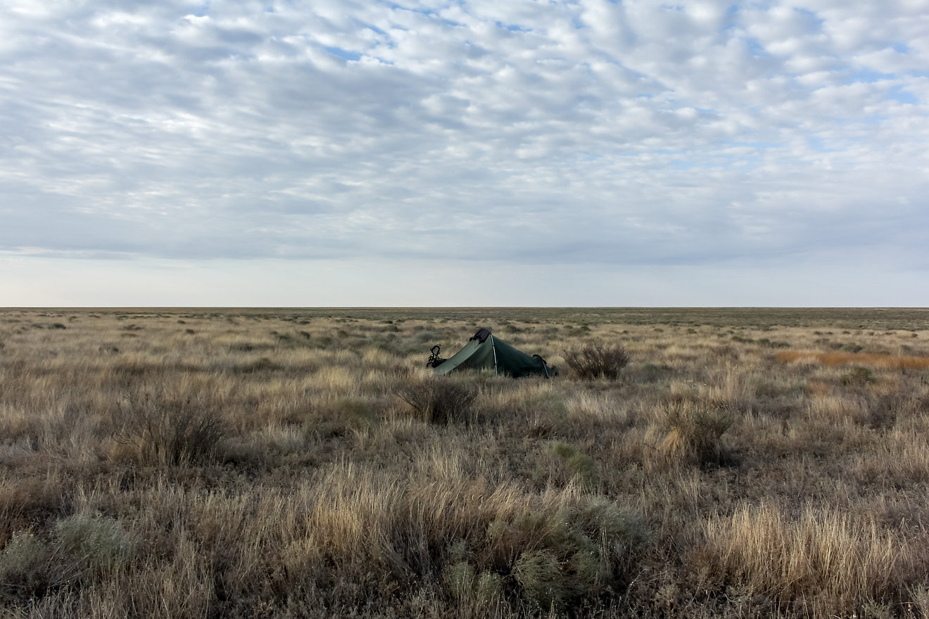 Camping in the steppe