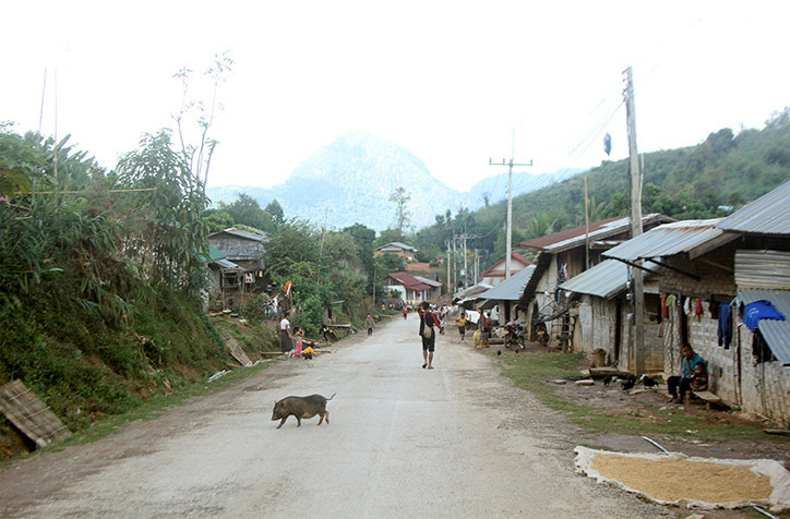On the road to Nong Khiaw, Laos