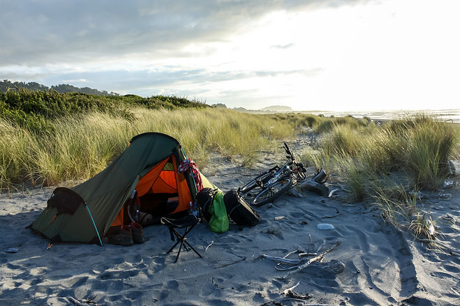 Wild camping New Zealand