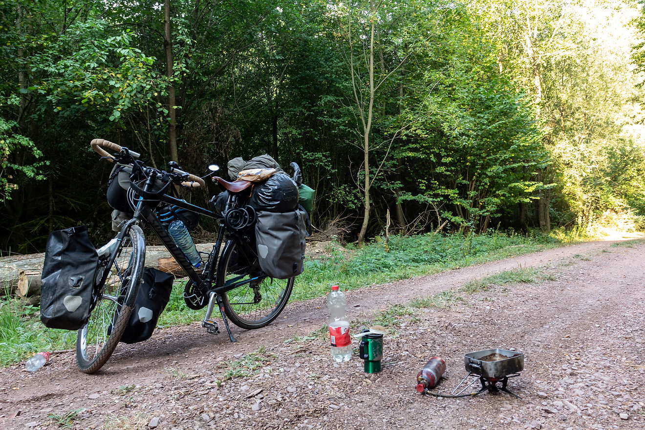 Making coffee cycle touring