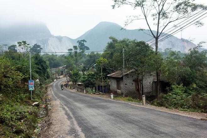 The road in vietnam