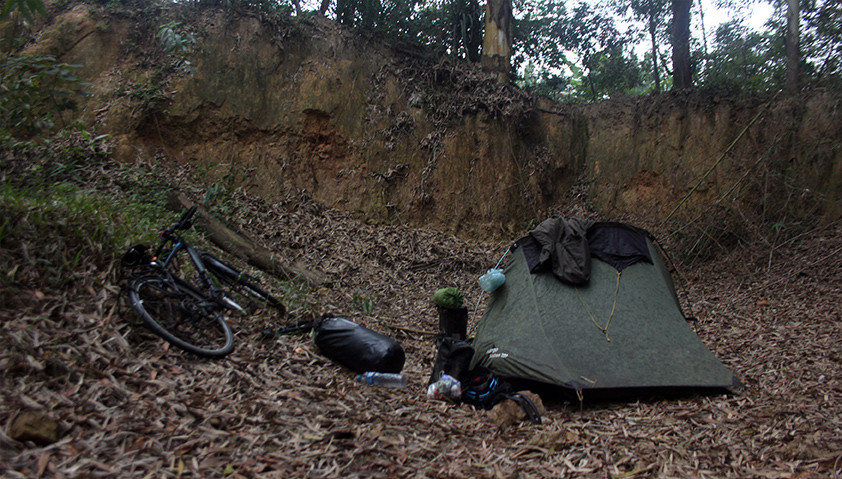 Stealth camping in Vietnam