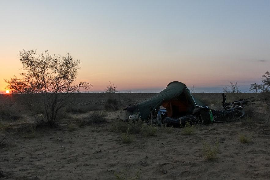 Wild camping uzbekistan