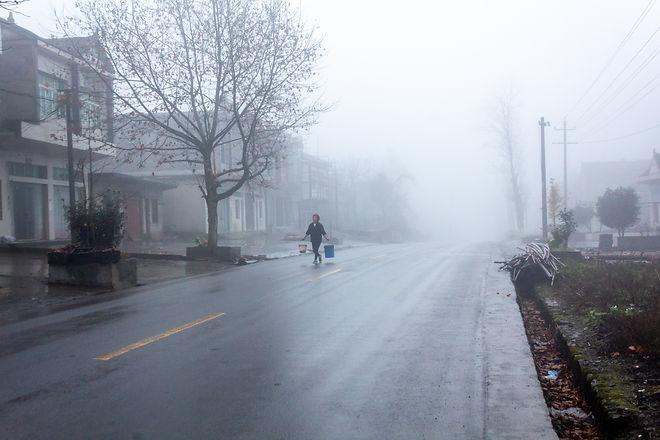 Misty morning sichuan