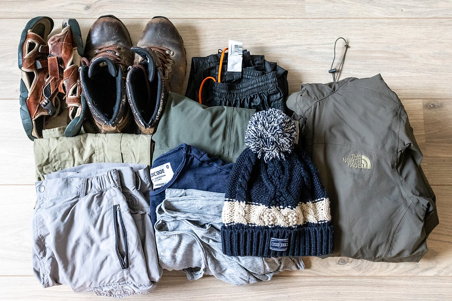 Clothes bicycle touring