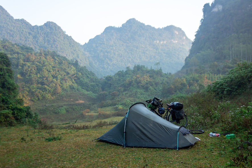 Wild camping in China