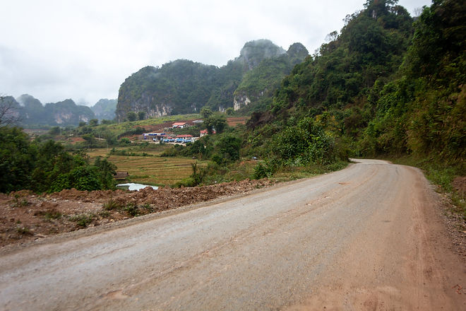 Limestone cliffs Laos