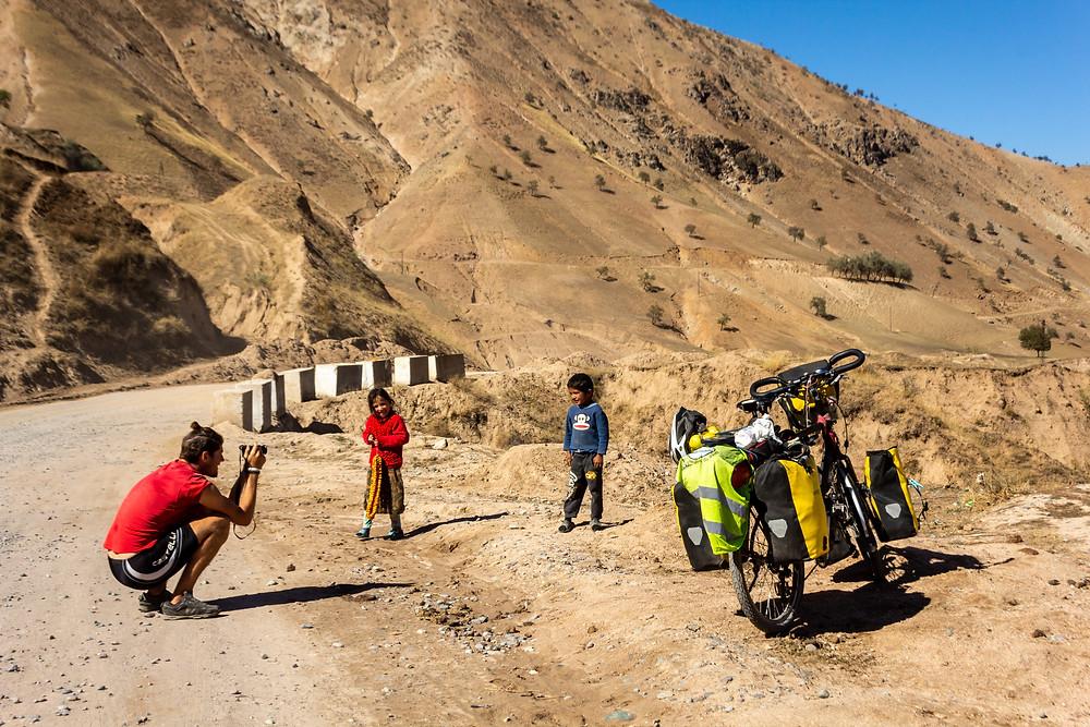 Cycling east from Dushanbe, Tajikistan