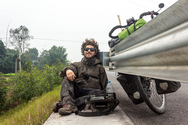 Dirty tired cycle touring